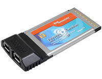 Firewire Host PCMCIA Card 2-port