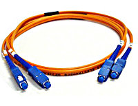 SC-SC Multimode Duplex Fiber Optic Patch Cable (6