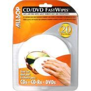 CD/DVD Fast Wipes, 20 Lint-Free Pads