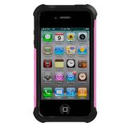 Shell Gel (SG) Case for iPhone 4/4S - Black/Pink