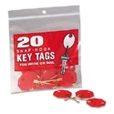 TAG,KEY,SLF LCKNG,20PK,RD