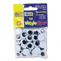 EYES,WIGGLE,15MM,50PK,BK