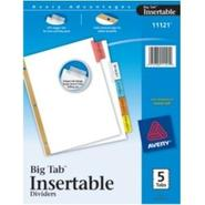WorkSaver Big Tab Insertable Dividers 11121, 5-Tab