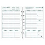Original Dated Weekly/Monthly Planner Refill, Jan.