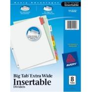 WorkSaver Big Tab Insertable Dividers 11222, 8-Tab
