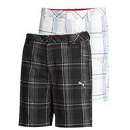 Junior Plaid Tech Short