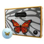 Crystal Golf Balls - Butterfly Logo