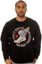 Men&#39;s The Run Crewneck Sweatshirt in Black, Sweats