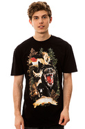 Men&#39;s The Animowl Tee in Black, T-shirts
