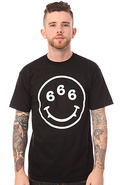 Men&#39;s The Smiley Tee in Black, T-shirts