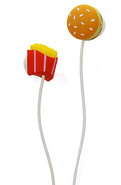 Unisex's The Fast Food Earbuds & Cord Wrapper Set,