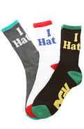 Men's The Haters 10 Crew Socks in White, Black, &