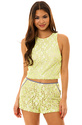 Women's The Lace Crop Top in Taupe Lemon, Tops (Sl