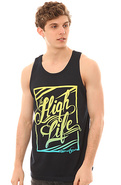 Men's The High Life Tank in Blue, Tank Tops