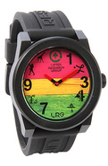 Men's The Icon Series Watch in Black & Rasta, Watc