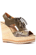 Women's The Tinley Shoe in Yellow and Olive, Shoes