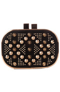 Women's The Precious Gem Clutch in Night Black, Ba