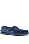 Men's The A/O 2-Eye Velvet Boat Shoe in Navy, Shoe