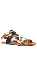 Women's The Midnight Sandal in Bronze, Shoes