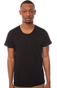 Men's The Cutter Crewneck Tee in Black, Basic T-sh