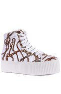 Women's The Hiya Sneaker in White Chain Print, Sne