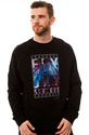 Men&#39;s The Tarmacin Crewneck Sweatshirt in Black, S