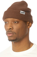 Men's The Fold Beanie in Brown, Hats
