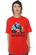 Men&#39;s The Gangbang Tee in Red, T-shirts