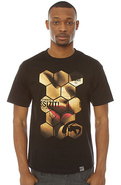 Men's The Honeycomb Tee in Black, T-shirts