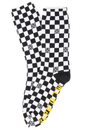 Men&#39;s The Checker Socks in Black &amp; White, Socks