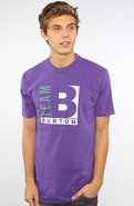 Men's The Team B 1990 Tee in Vintage Purple, T-shi