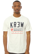 Men's The Registered Regular Tee in White, T-shirt