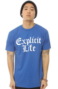 Men's The Explicit Life Tee in Royal, T-shirts
