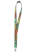 Men's The Haters Lanyard in Rasta, Accessories