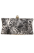 Women's The Wildlife Clutch in Tiger Grey, Bags (H