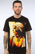 Men's The Obey Harmony Tee in Black, T-shirts