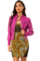 Women&#39;s The Classic PU Bomber in Orchid, Light Jac