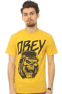 Men's The Reign In Obey Tee in Mustard, T-shirts