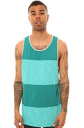 Men's The JT Foil Tank Top in New Teal, Tank Tops