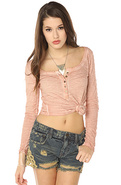 Women's The Crochet Cut Off in Delft Wash, Shorts