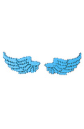 Men's The 8-Bit Wing Stud Earrings in Blue, Jewelr