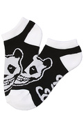 Men's The Crimson Panda No Show Socks in Black, So