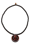 Men's The All Seeing Eye Necklace in Black, Jewelr