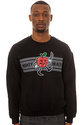 Men's The Sliced Crewneck Sweatshirt in Black, Swe