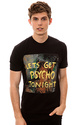 Men&#39;s The Psycho Tee in Black, T-shirts