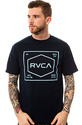 Men&#39;s The RVCA Plate Tee in Navy, T-shirts