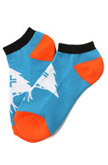 Men's The Old Tree No Show Socks in Blue, Socks