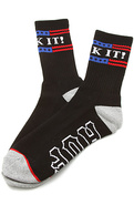 Men's The Fuck It Crew Socks in Black, Socks