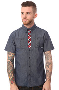 Men's The Lost in Jamaica S/S Shirt in Navy, Butto