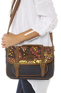 Women's The Dahlia Messenger in Vintage Paisley, B